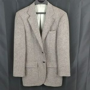 Stafford Blazer - Tweed Brown and cream and white